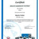 Certifikát AirLive - kamerové systémy