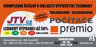 Lednové slevy Premio prodejna Kroměříž
